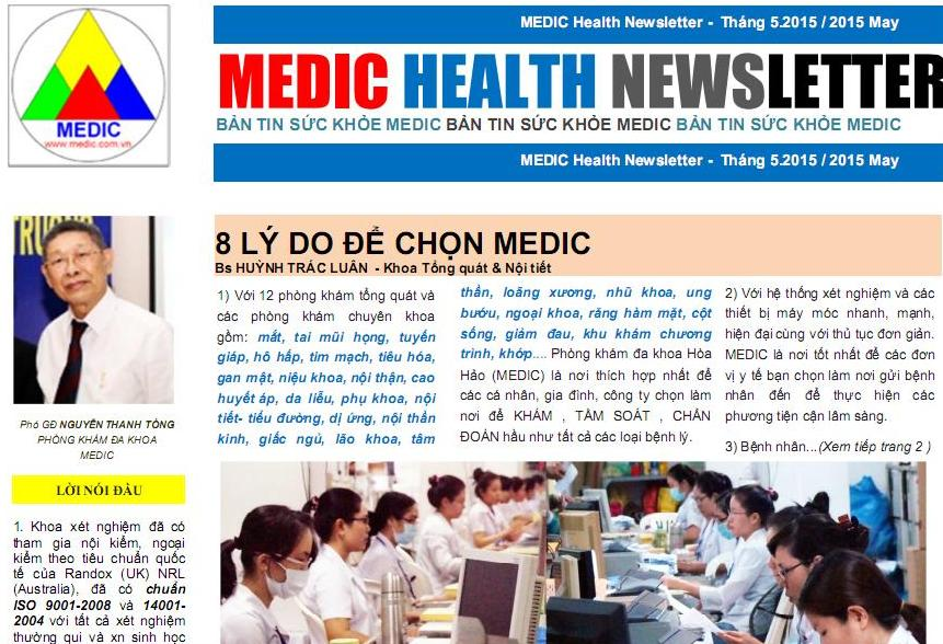 Ban tin MEDIC Health Newsletter THANG 5
