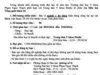 Lớp Siêu âm Tổng quát khóa 26