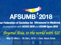 Ngày 23-26/05/2018, tại Seoul – Hàn Quốc, AFSUMB 2018